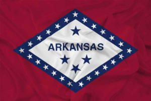 Waving Arkansas State Flag