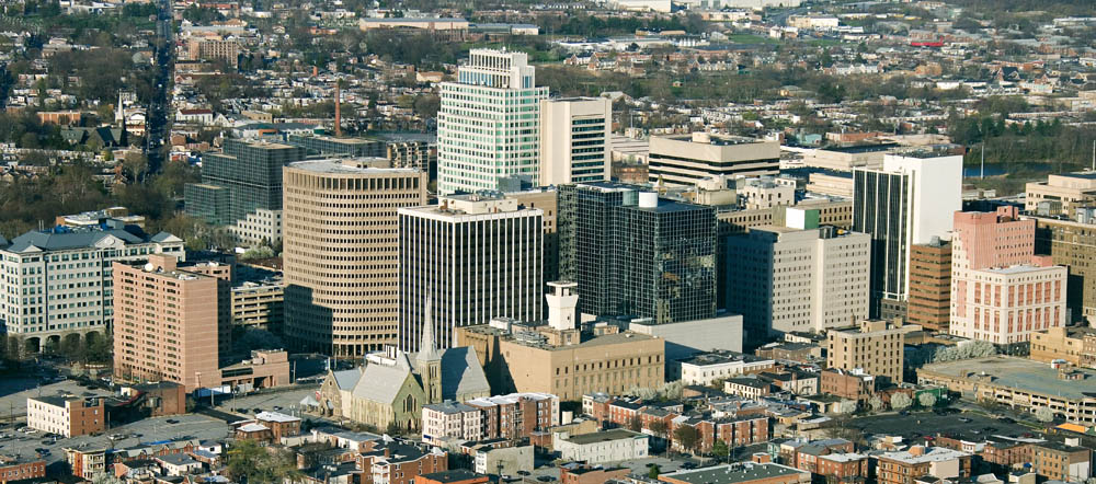 Cityscape of Wilmington, Delaware