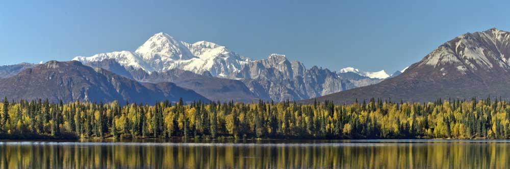 Byers Lake Alaska Fall with Denali background