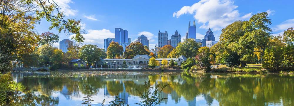 Atlanta Piedmont Park Skyline