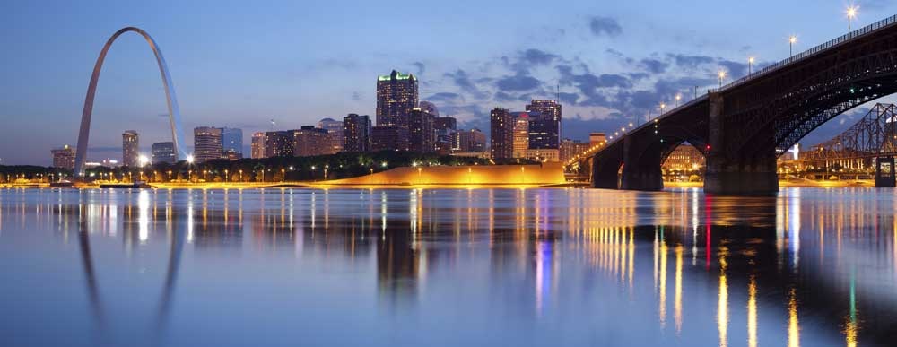 City of St. Louis skyline